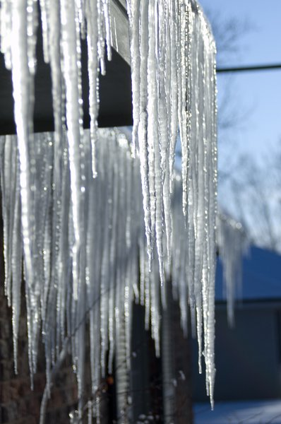 Icicles on home